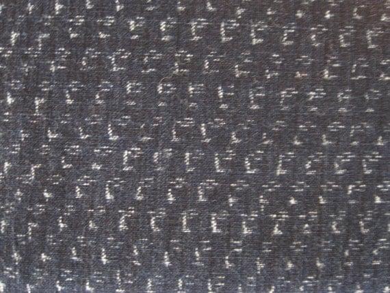 Antique handwoven Japanese indigo kasuri cotton fabric
