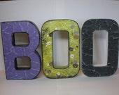 Boo Paper Mache Letters