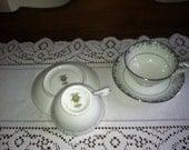 2 Teacups & saucers by Noritake in Kathleen Pattern