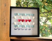 Chicago Flag and Skyline Paper Heart Frame