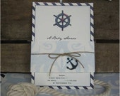 Nautical Invitation for Bridal or Baby Shower