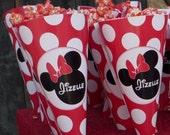 Minnie Mouse Popcorn Cones