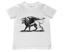 Awesome Vintage Gryphon illustration on kids TShirt - personalization available - youth sizes 2T-4T. xs, s, m, l, xl