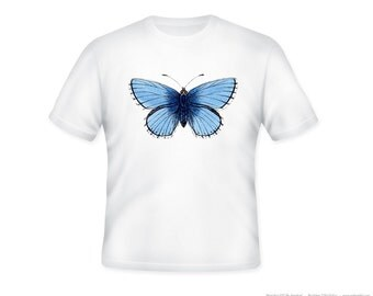 Gorgeous Vintage Butterfly Tshirt, other tshirt color and personalization available - adult sizes S-3XL