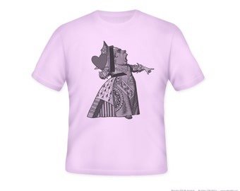 Alice in Wonderland Queen Illustration on Adult TShirt -- sizes S-5XL