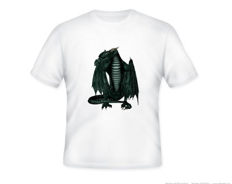 Fierce 3D Dragon Adult Tshirt  -- other tshirt color and personalization available - adult sizes S-3XL