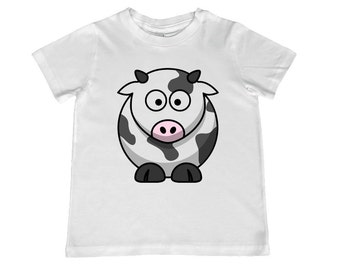Cute Cow Youth  TShirt - tee color choice, personalization available - youth sizes xs, s, m, l, xl