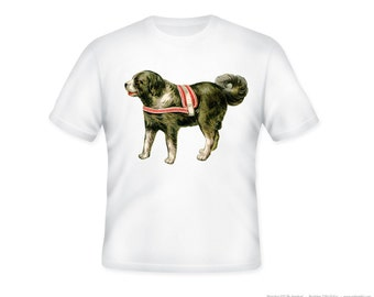 Vintage Circus Dog Illustration Adult T-Shirt, Sizes S-5XL