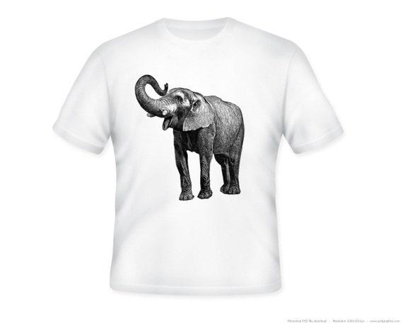 Fantastic Elephant Image Adult T-Shirt, sizes S-5XL