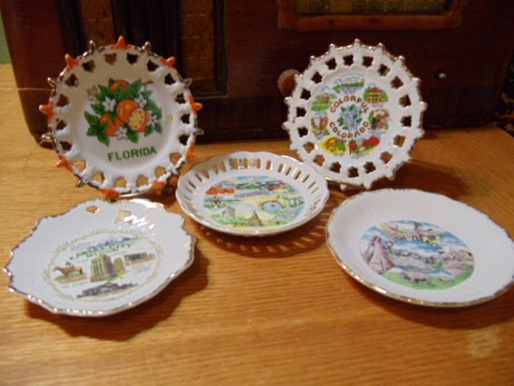 Group of State Souvenir Plates