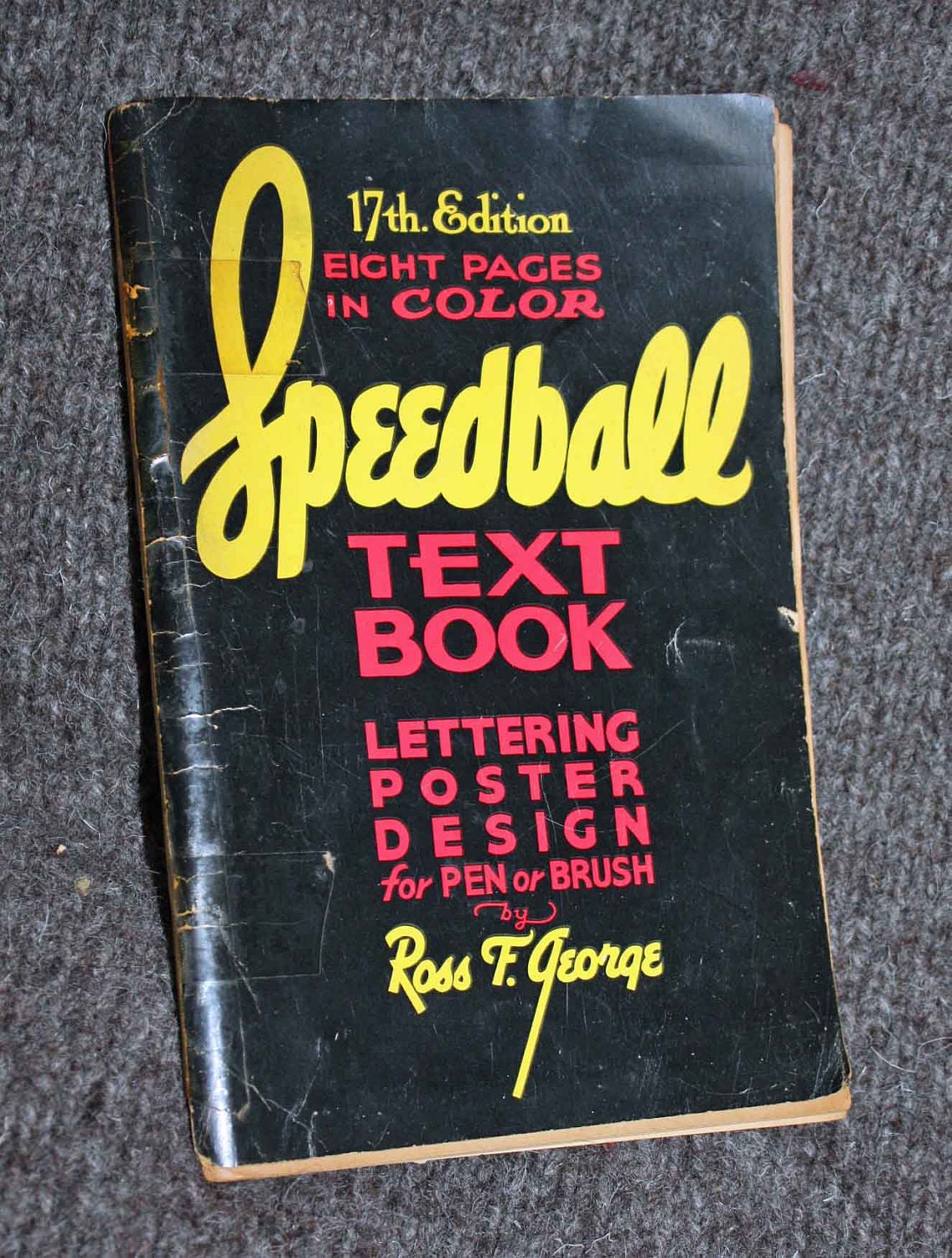 Vintage Book Speedball Text Book Lettering Poster Design For