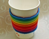Cozy Cup Rainbow Fabric Insulated