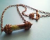 Terrarium necklace copper