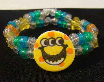 Custom Monster Kandi Double Row Bracelet with Star Beads