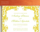 AUDREY. Classic Wedding Invitation Suite Deposit