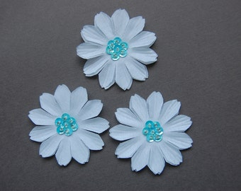 3pc - Blue Sequin Daisy