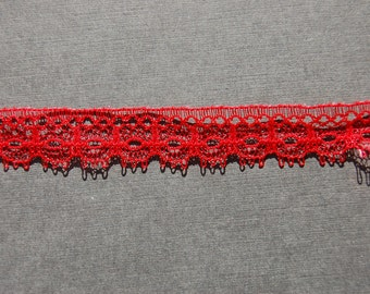Red Eyelash Lace Trim
