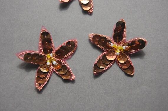 Sequin Beaded Flower Applique