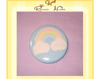 Over the rainbow 2.25 inch pinback button