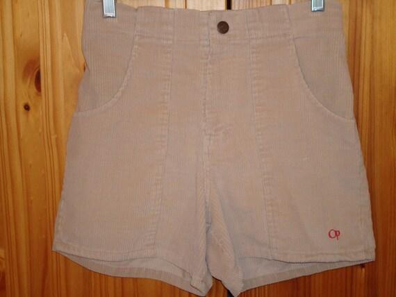 "Vintage 80""s Op Corduroy Shorts Beige 28W 106"