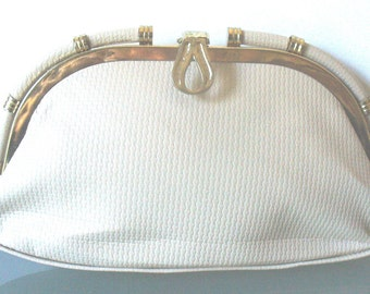 Vintage Bone Textured  Clutch Purse Jainson's Bag