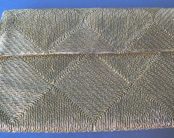 Vintage Woven Gold Thread Bag