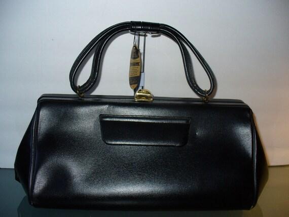 Vintage Black Kessler Leather Doctors Bag Never Worn With Tags
