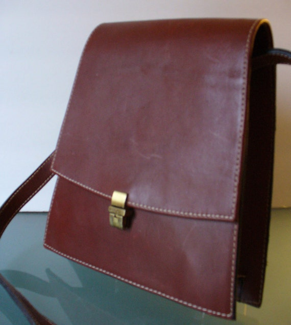 Leather Messanger Bag by Marco Mocelli