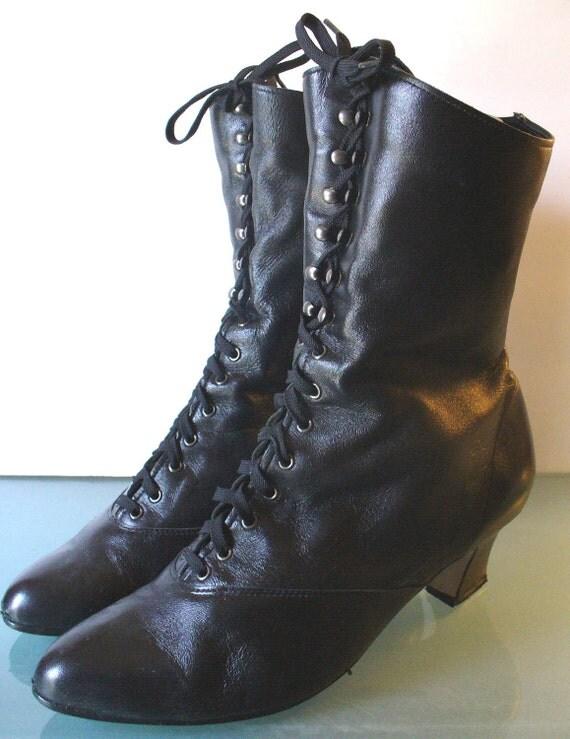 Magdesians Steam Punk Granny Boots 8M