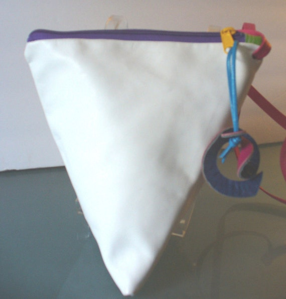 Origami Triangle Shoulder Bag White