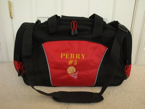 duffel bag personalized basketball team sports by htscreations