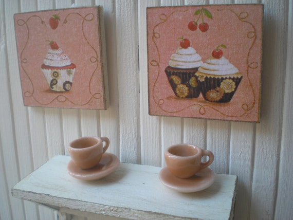 cups and framed  set 1.12 th