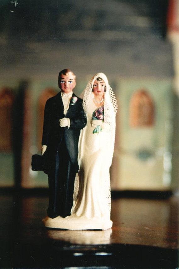 Vintage Style 1930s Wedding Cake Topper Figure