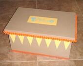 Children's Handpainted Toy Box