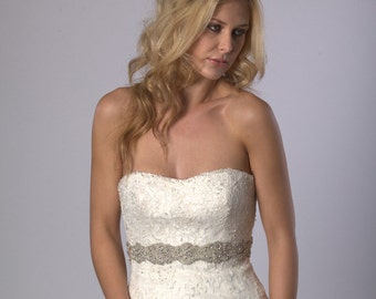 Lavishly embellished bridal belt, bridal sash