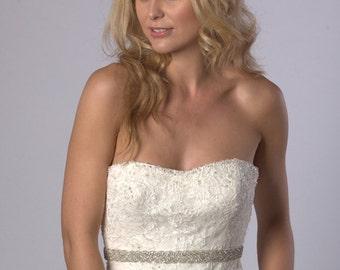 Crystal rhinestone bridal sash