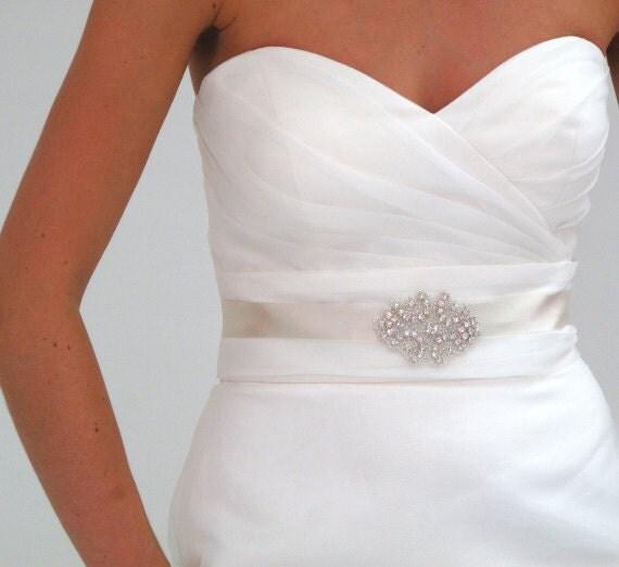 Crystal rhinestone bridesmaid sash