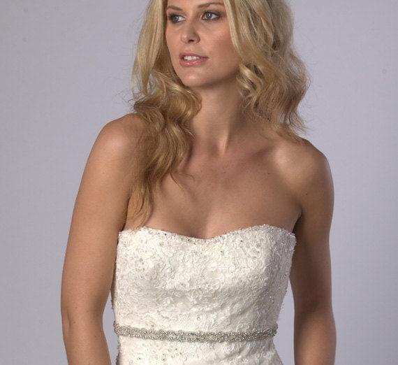 Sparkly crystal rhinestone wedding dress belt for Sparkly wedding dress belt
