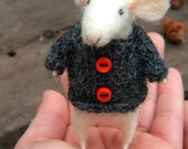My dear Little mouse with Sweater  - needle felted ornament animal, felting dreams by johana molina