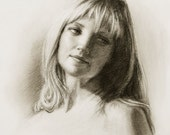 Commission Portrait (reserved for Cassie) - Sample Charcoal Drawing by Portrait Master - Commission a portrait from your favorite photo