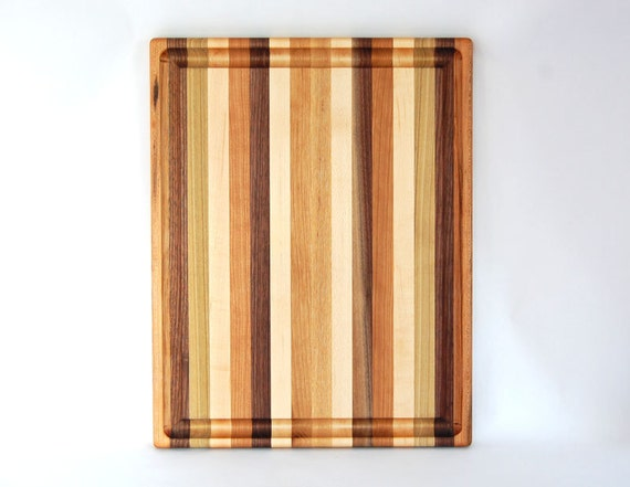 Large multi wood cutting board with juice by dickinsonwoodworking