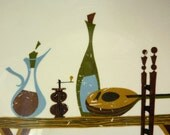Mid Century Plate, Great Graphics, Homer Laughlin Rhythm, 1955