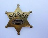 Vintage Palm Springs Sheriff Badge, Souvenir, Costume