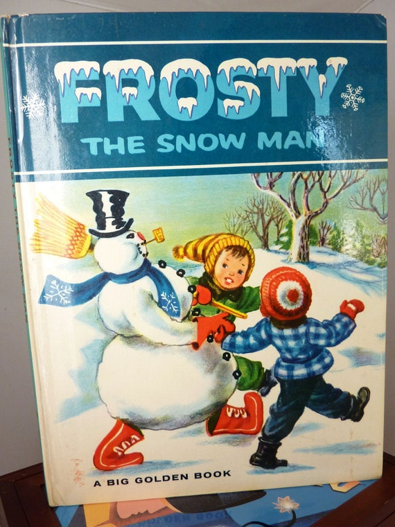 1963 Frosty the Snowman, Big Golden Book, Fantastic Condition