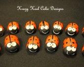 Miniature Ladybug Cupcake Toppers