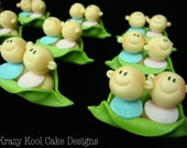Babies In A Pod Cupcake Toppers