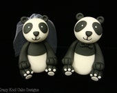 Panda Bride and Groom Wedding Toppers