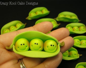 Peas In A Pod Cupcake Toppers