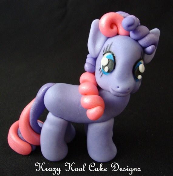 Little Pony Cake Topper In Purple