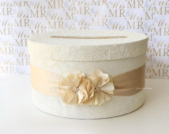 Elegant Wedding Card Box Money Box Card Holder- Custom Made to Order